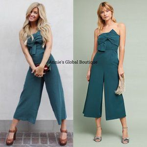 NWT ANTHROPOLOGIE Beatty Bow Strapless Jumpsuit